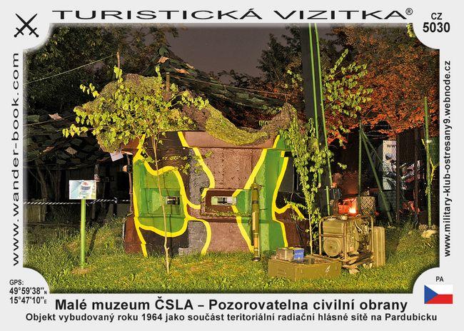 Malé muzeum ČSLA – Pozorovatelna civilní obrany