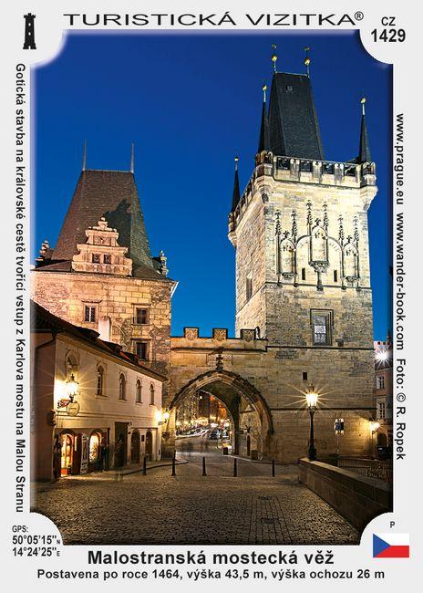 Malostran. mostecká věž