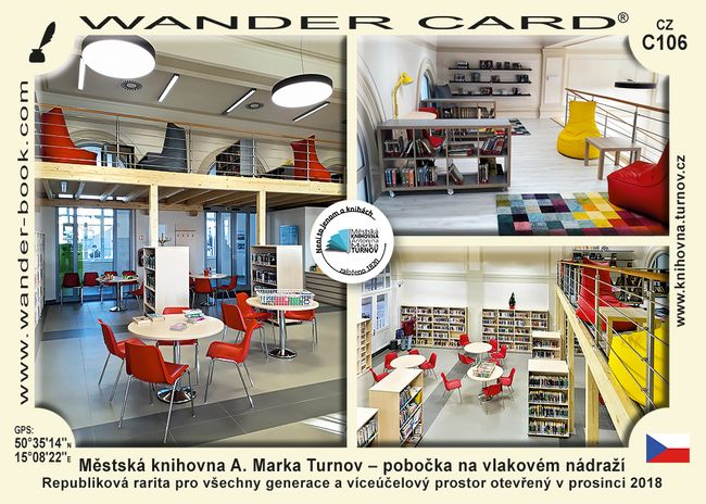 Městská knihovna A. Marka Turnov – pobočka na vlakovém nádraží