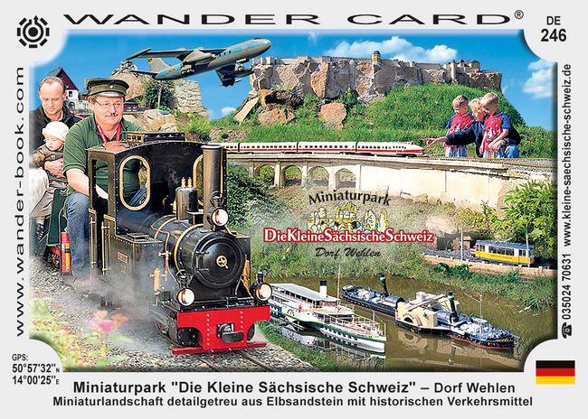"""Miniaturpark """"Die Kleine Sächsische Schweiz"""" – Dorf Wehlen"""