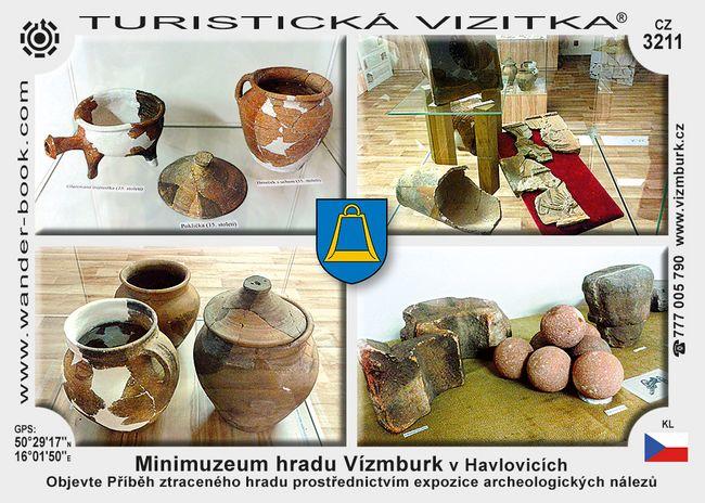 Minimuz. hradu Vízmburk v Havlovicích