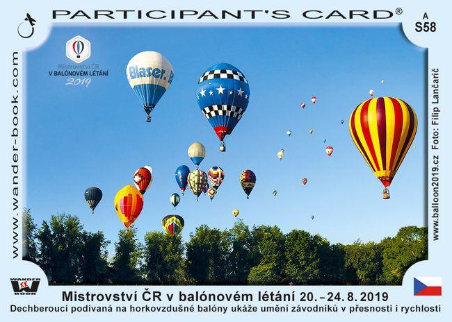 Mistrovství ČR v balónovém létání 20. – 24. 8. 2019