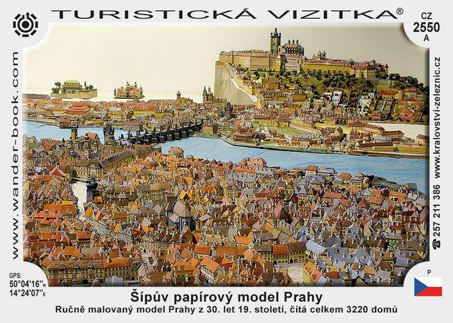 Model Prahy - interak. a Šípův papírový