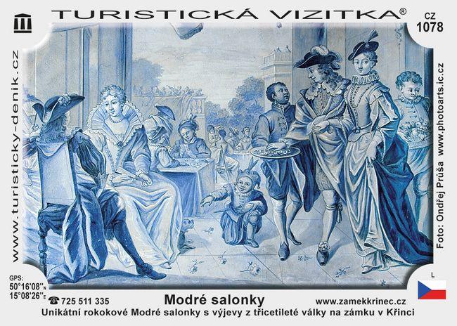 Modré salonky na zámku Křineč