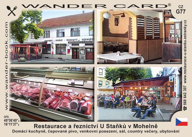Restaurace a řeznictví U Staňků v Mohelně