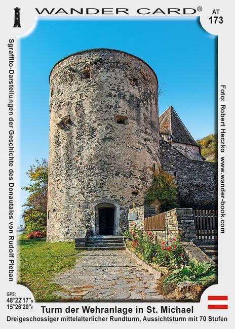 Turm der Wehranlage in St. Michael in der Wachau
