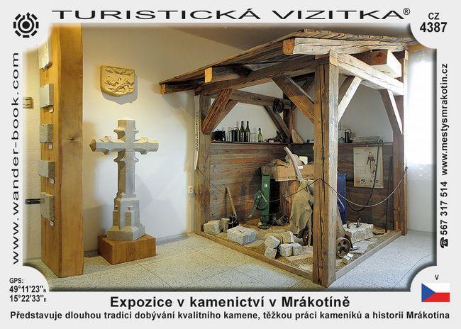 Expozice v kamenictví v Mrákotíně