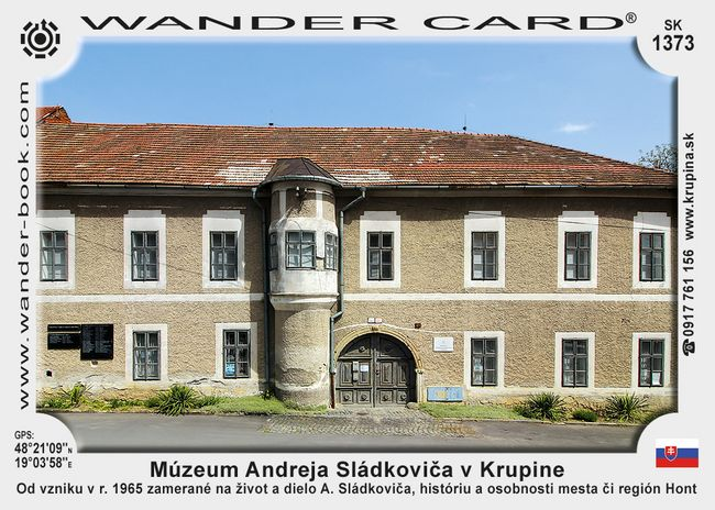 Múzeum Andreja Sládkoviča v Krupine