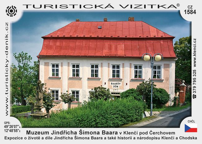 Muzeum Jindřicha Š. Baara v Klenčí p. Č.