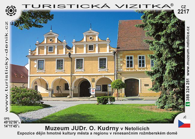 Muzeum JUDr. O. Kudrny v Netolicích