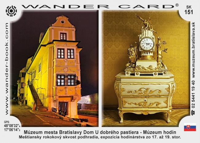 Múzeum mesta Bratislavy Dom U dobrého pastiera - Múzeum hodín