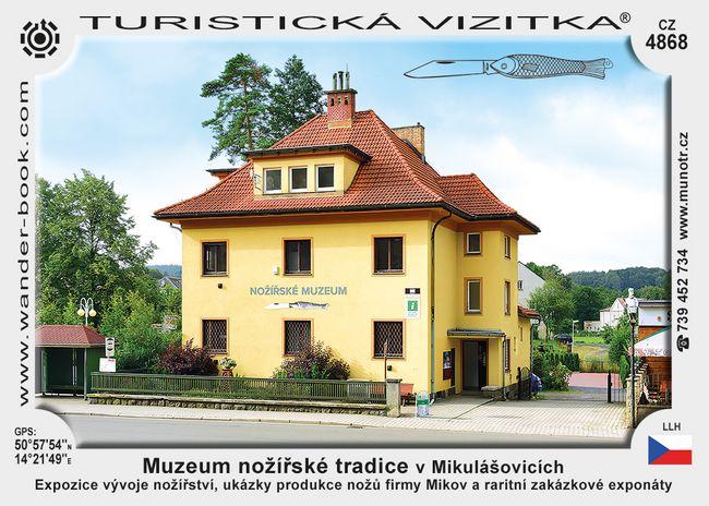 Muzeum nožířské tradice v Mikulášovicích