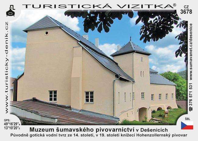 Muzeum šumavského pivovarnictví v Dešenicích