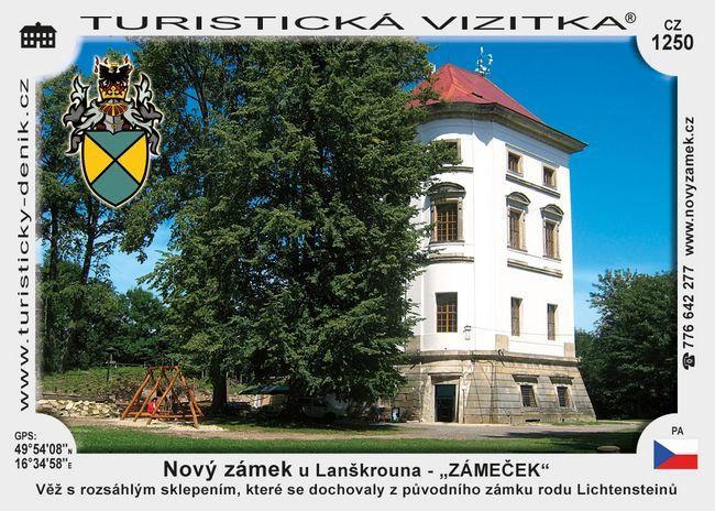 """Nový zámek u Lanškrouna – """"ZÁMEČEK"""""""