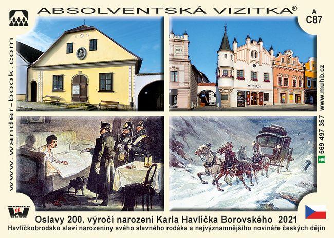 Oslavy 200. výročí narození Karla Havlíčka Borovského  2021
