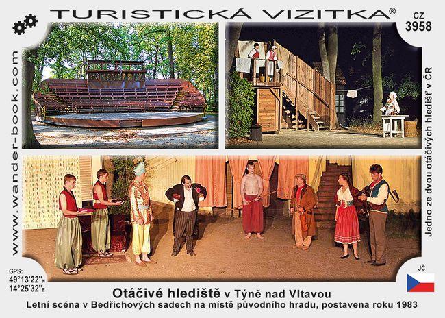 Otáčivé hlediště v Týně nad Vltavou