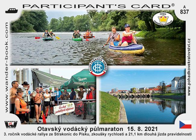 Otavský vodácký půlmaraton  15. 8. 2021