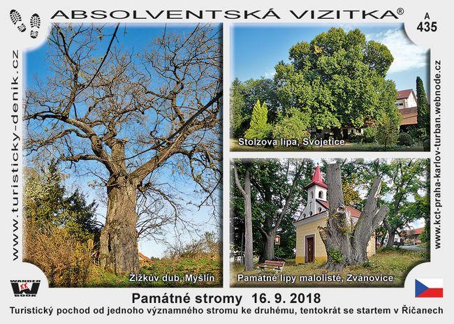 Památné stromy září 2018