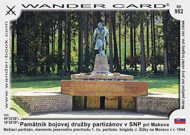 Pamätník bojovej družby partizánov v SNP pri Makove