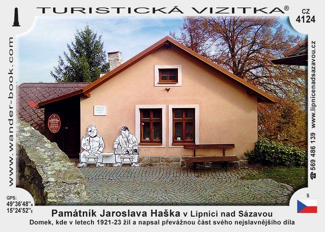 Památník Jaroslava Haška v Lipnici nad Sázavou