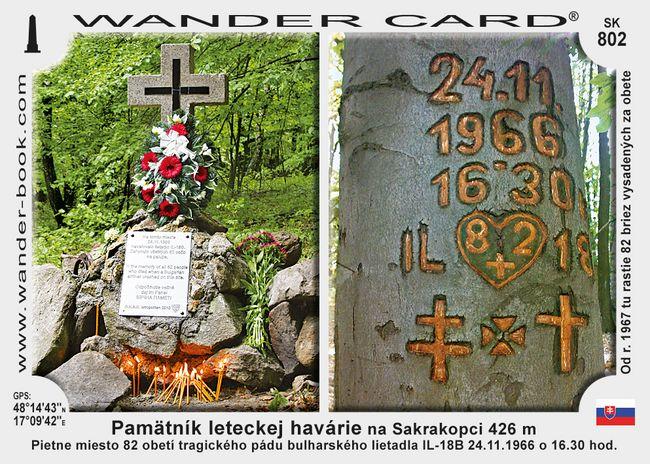 Pamätník leteckej havárie na Sakrakopci