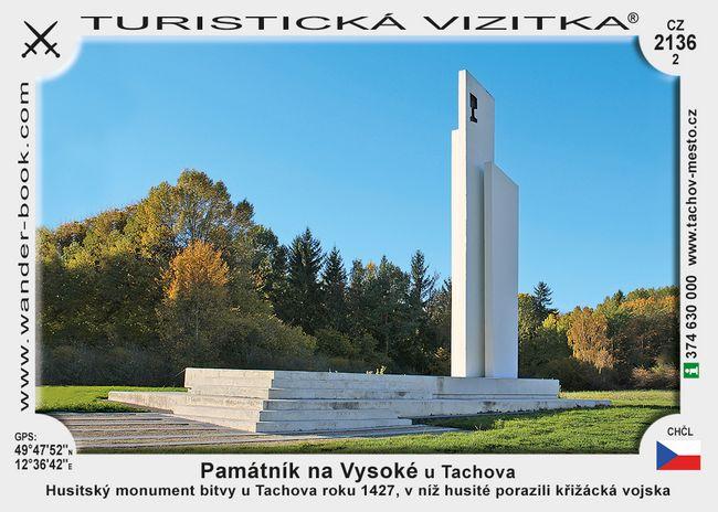 Památník na Vysoké u Tachova