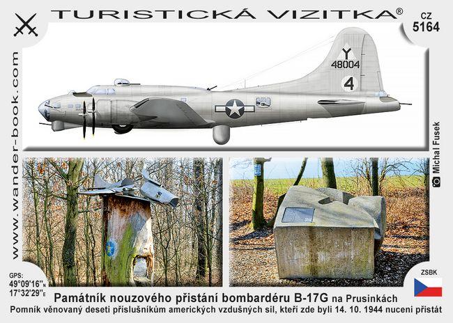 Památník nouzového přistání bombardéru B-17G na Prusinkách