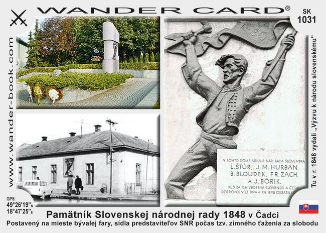 Pamätník Slovenskej národnej rady 1848 v Čadci