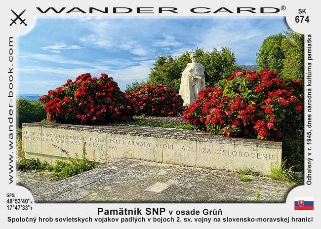 Pamätník SNP v osade Grúň
