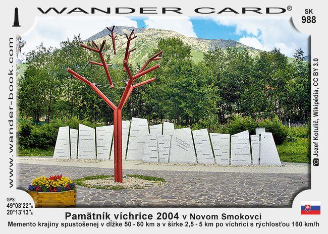 Pamätník víchrice 2004 v Novom Smokovci