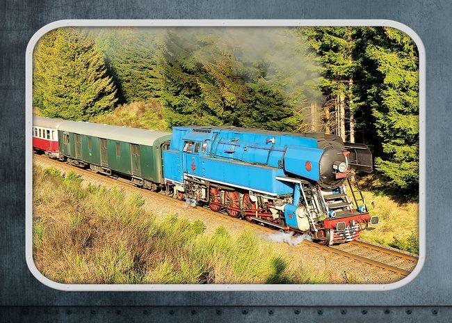 """Parní lokomotiva 477.0 """"Papoušek"""""""