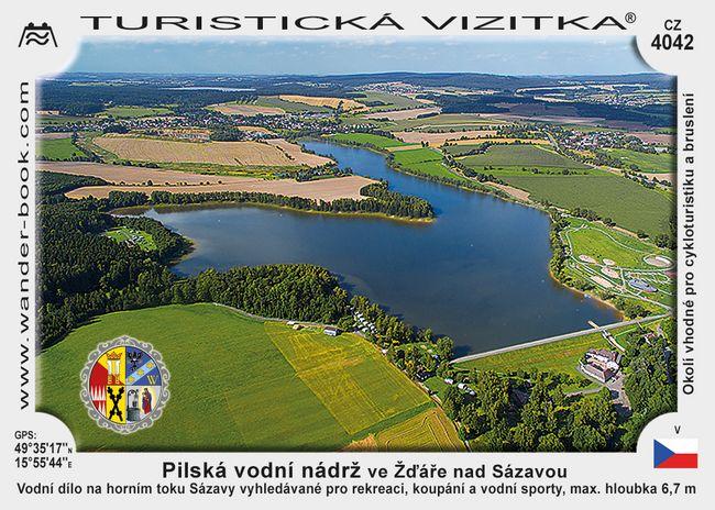 Pilská vodní nádrž ve Žďáře nad Sázavou