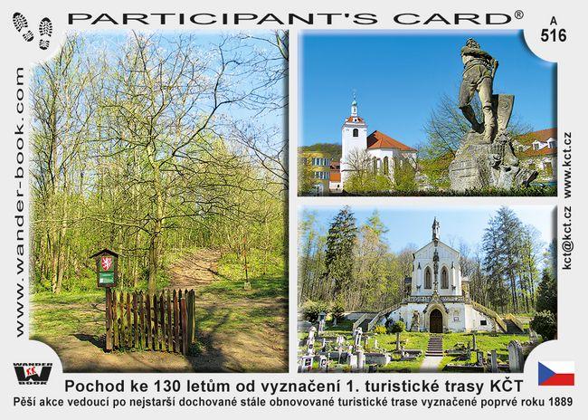 Pochod ke 130 letům od vyznačení 1. turistické trasy KČT