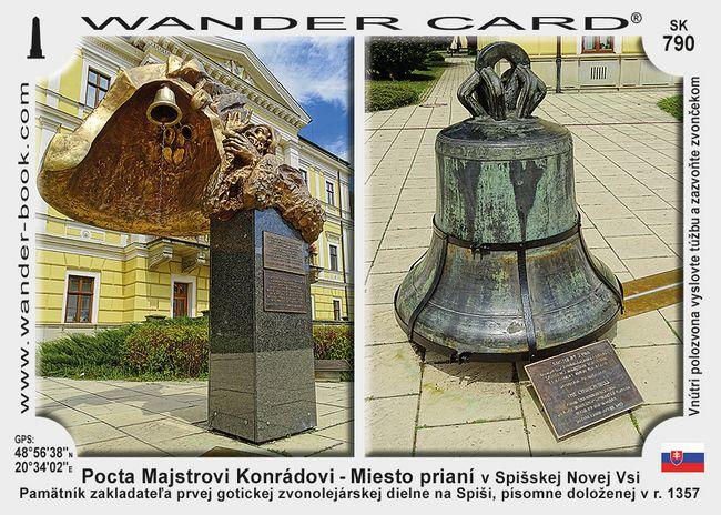 Pocta Majstrovi Konrádovi - Miesto prianí v Spišskej Novej Vsi