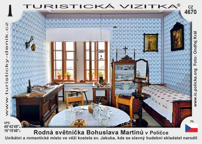 Rodná světnička Bohuslava Martinů v Poličce