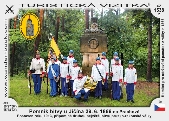 Pomník bitvy u Jičína 29. 6. 1866 na Prachově