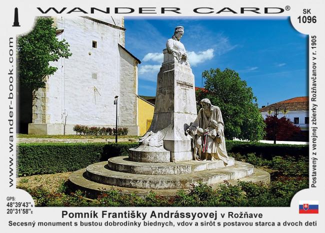 Pomník Františky Andrássyovej v Rožňave