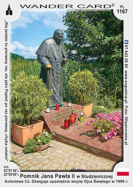 Pomnik Jana Pawła II w Studzienicznej