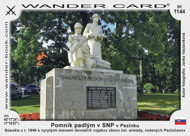 Pomník padlým v SNP v Pezinku