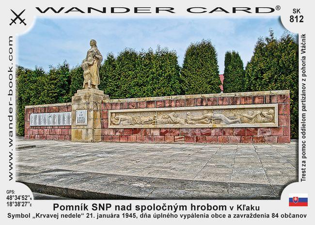 Pomník SNP nad spoločným hrobom v Kľaku