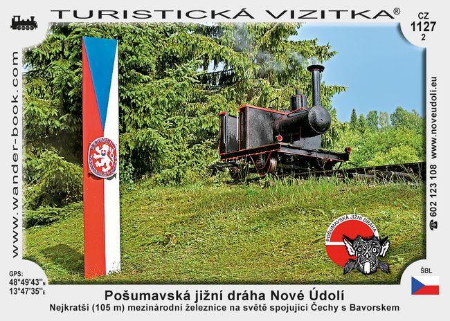 Pošumavská jižní dráha Nové Údolí