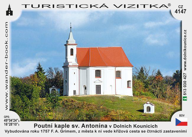 Poutní kaple sv. Antonína vDolních Kounicích