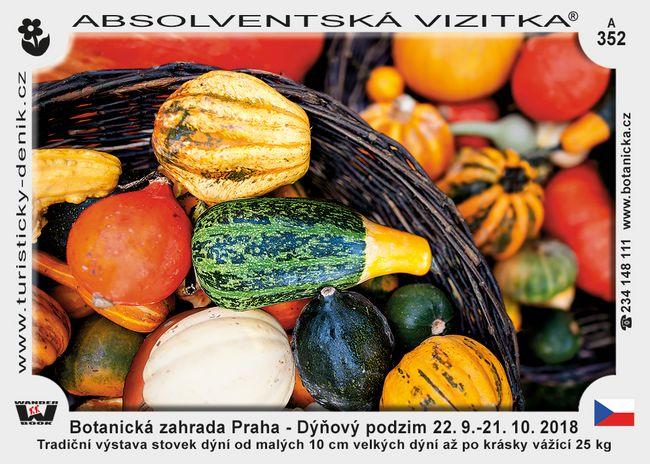 Praha botanická dýně 2018