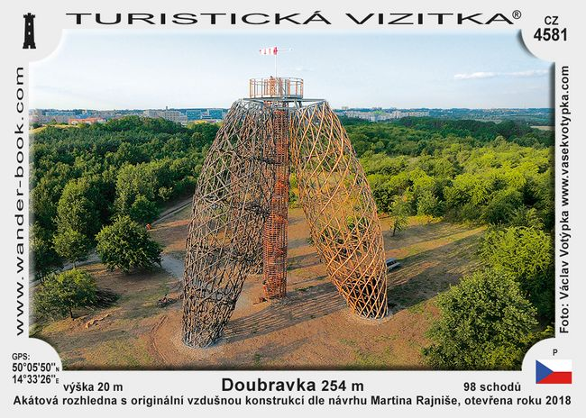 Praha Doubravka rozhledna