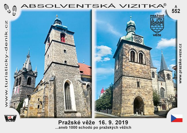 Pražské věže  16. 9. 2019