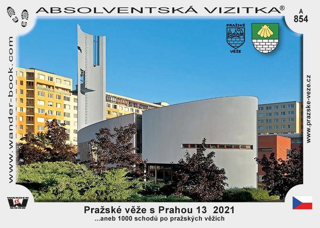 Pražské věže s Prahou 13  2021