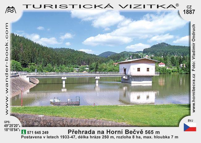 Přehrada na Horní Bečvě
