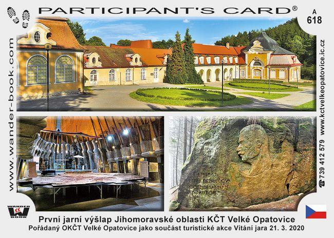 První jarní výšlap Jihomoravské oblasti KČT Velké Opatovice