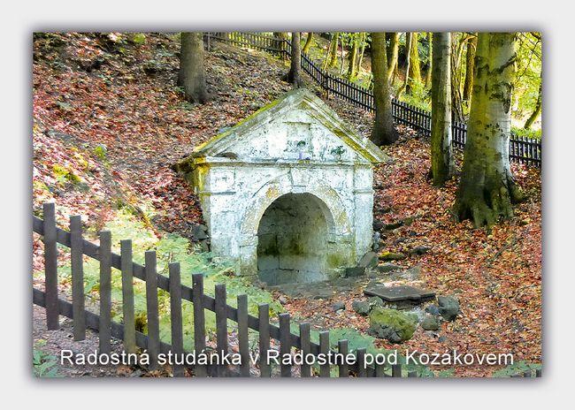 Radostná studánka v Radostné pod Kozákovem
