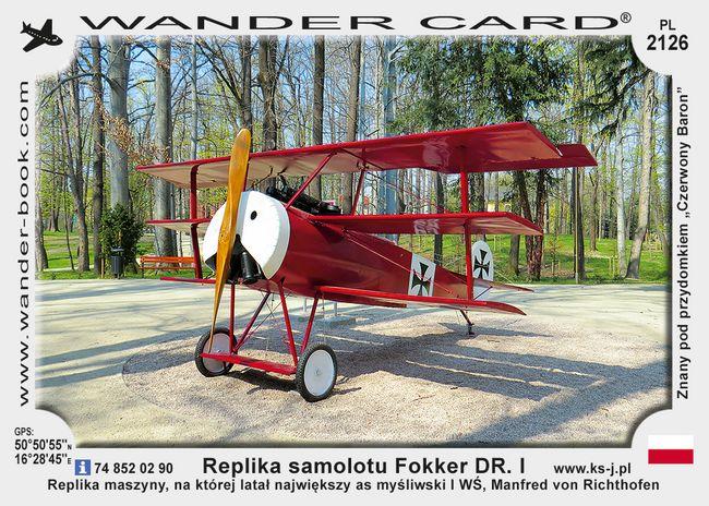 Replika samolotu Fokker DR. I